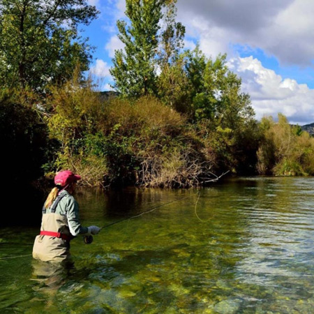 Pescar en el este de los pirineos