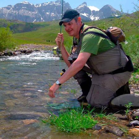 viaje de pesca en los pirineos santa cilia